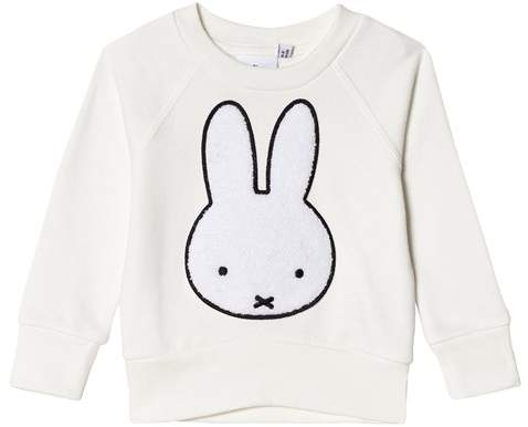 Tobias & The Bear White Miffy Face Graphic Sweatshirt