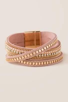 francesca's Benton Magnetic Wrap Bracelet - Mauve