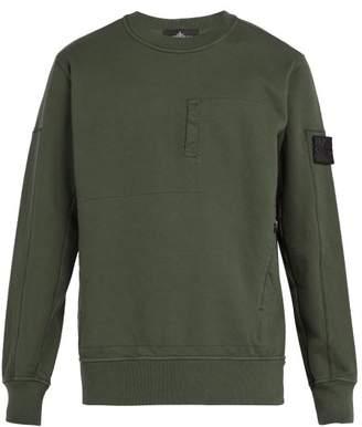 Stone Island Shadow Project - Shadow Project Zip Pocket Cotton Jersey Sweatshirt - Mens - Khaki