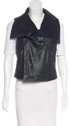 Veda Leather Metallic Vest