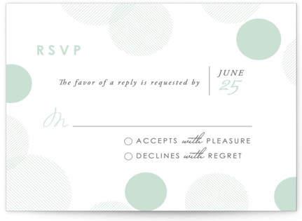 Float Away Letterpress RSVP Cards