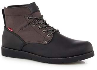 Levi's LEVIS Black Leather 'Jax' Lace Up Boots
