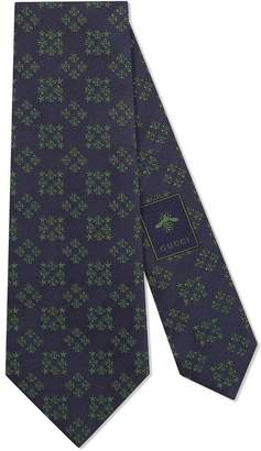 Gucci Bees and stars squares silk tie
