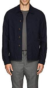 Glanshirt Men's Airtex Cotton Shirt Jacket - Navy
