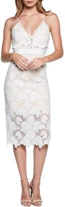 Bardot Vienna Lace Overlay Sheath Dress