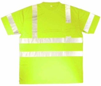 CORDOVA SAFETY PRODUCTS Cor-Brite Hi-Vis Lime Short Sleeve Shirt