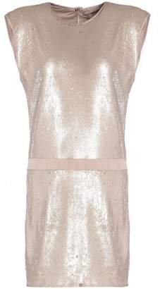Halston Sequined Crepe Mini Dress