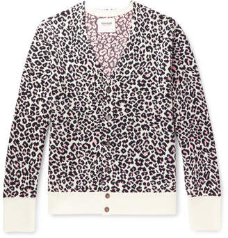 Noon Goons Chatterbox Leopard-Jacquard Cardigan