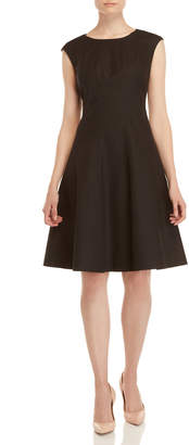 Lafayette 148 New York Black Bev Fit & Flare Dress