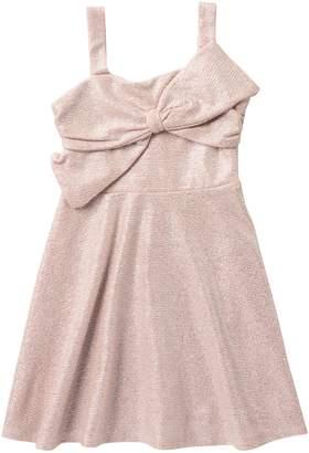 My Michelle mymichelle Foil Knit Bow Dress (Big Girls)