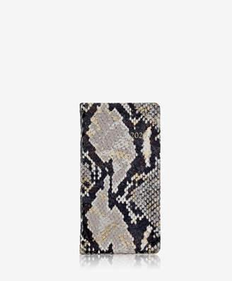 "GiGi New York 2019 6"" Pocket Datebook, Gold Wash Embossed Leather"
