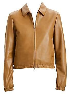 Theory Women's Shrunken Leather Bomber