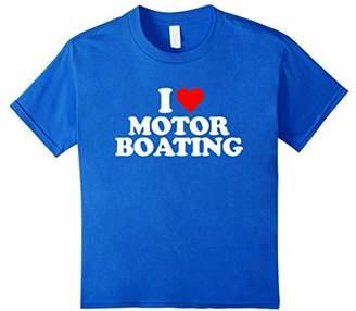 I Love Motorboating T Shirt - Heart Funny Fun Tee