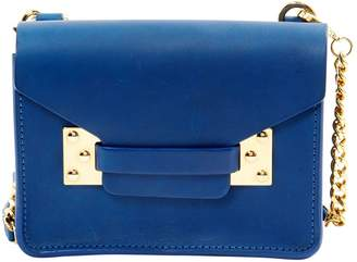 Sophie Hulme Blue Leather Clutch Bag