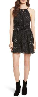 Joie Althia Metallic Print Fit & Flare Dress