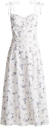 REBECCA TAYLOR Francine floral-print cotton dress