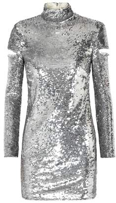 Helmut Lang Disco Silver Sequinned Dress