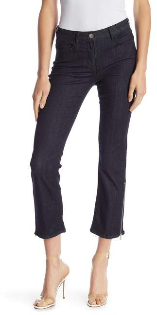 3x1 NYC Mid Rise Zip Detailed Bootcut Jeans