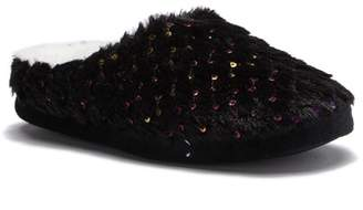 Steve Madden Rhinestone Faux Fur Slipper (Women)