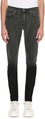Alexander McQueen Dip-Dyed Skinny Jeans, Gray
