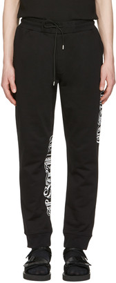 McQ Alexander Mcqueen Black Goth Tattoo Lounge Pants $315 thestylecure.com