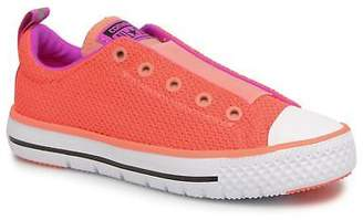 Converse Kids's Chuck Hyper Light Ox Mixed Textile Trainers in Pink