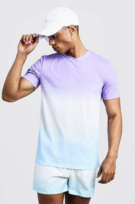 boohoo MAN Signature Faded T-Shirt & Swim Short