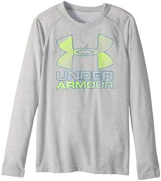 Under Armour Kids Hybrid Big Logo Long Sleeve Tee Boy's T Shirt