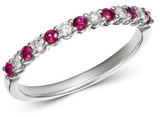 Bloomingdale's Ruby & Diamond Stacking Band in 14K White Gold - 100% Exclusive