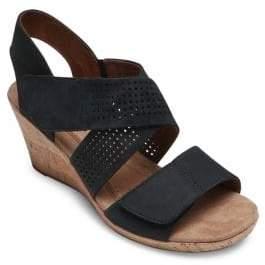 Rockport Cobb Hill Janna Cross-Strap Wedge Sandals