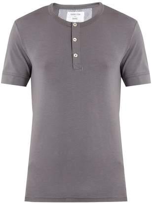 HAMILTON AND HARE Short-sleeved henley T-shirt