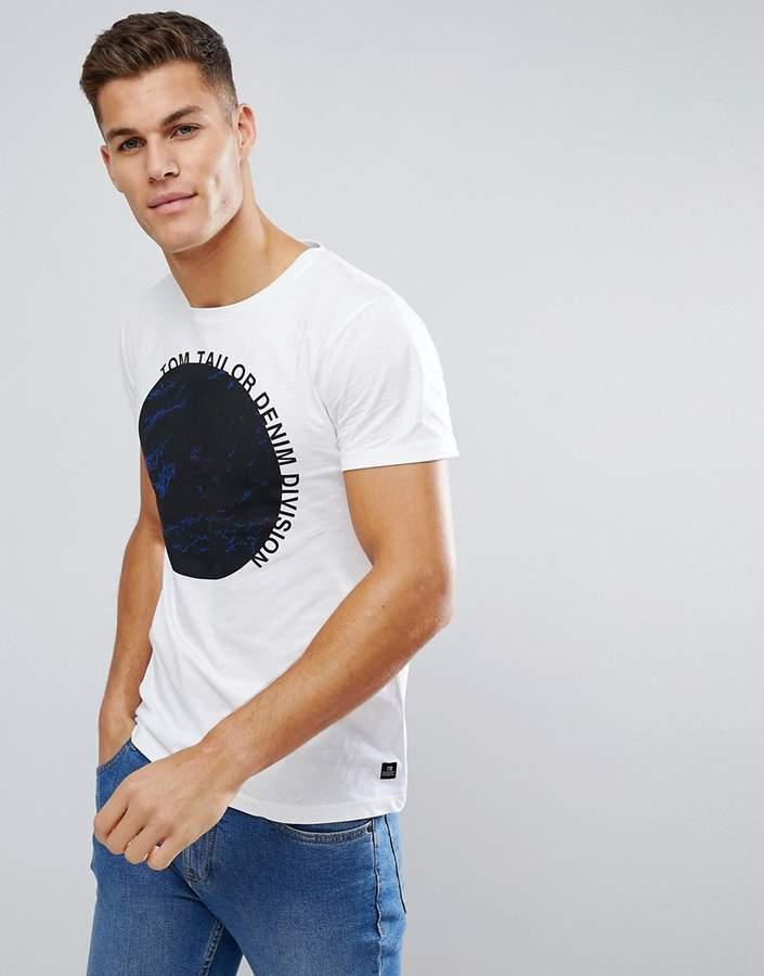 – T-Shirt mit Mond-Print