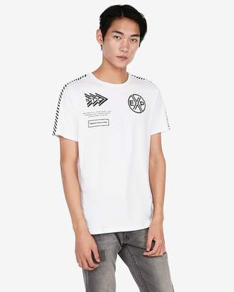 Express Jersey Crew Neck Exp Nyc Graphic Tee