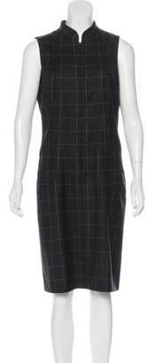 Armani Collezioni Wool Plaid Dress