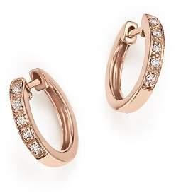 KC Designs Diamond Mini Huggie Hoops in 14K Rose Gold, .10 ct. t.w.