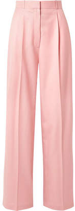 The Row Elin Wool-twill Wide-leg Pants - Baby pink