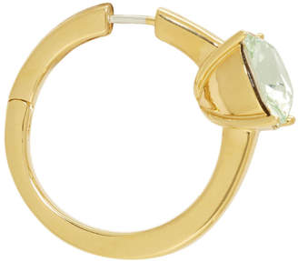 Ambush Gold and Green Solitaire Single Earring