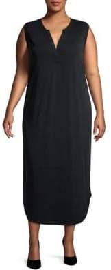 Rachel Roy Plus Side Slit Colorblock Dress