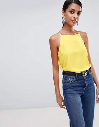 Warehouse High Neck Cami In Yellow