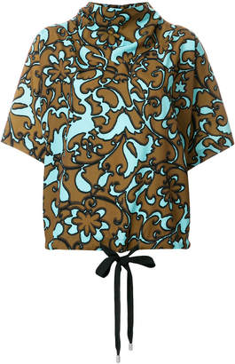 Marc Jacobs drawstring patterned top