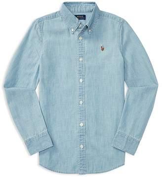 Polo Ralph Lauren Girls' Chambray Shirt - Big Kid