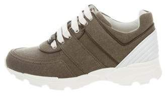 Chanel Canvas & Leather Running Sneakers w/ Tags