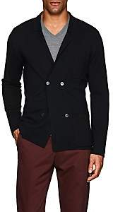 P. Johnson Men's Merino Wool Double-Breasted Cardigan - Black