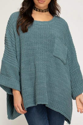 She + Sky Oversized Chenille Sweater