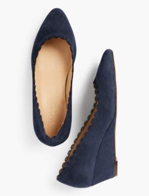 Talbots Laney Wedges - Kid Suede/Scalloped