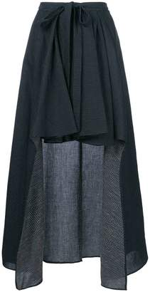Chalayan draped asymmetric skirt