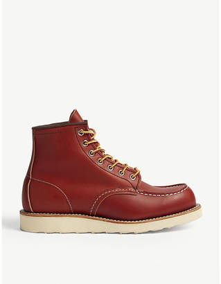 "Red Wing Shoes Work 6"" leather boots"