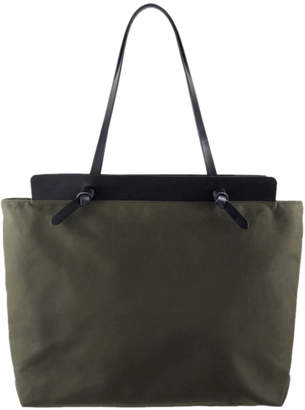 Open Habit Leather and Canvas Knotted Portfolio