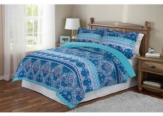 Mainstays Reversible Paisley Quilt