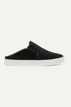 Vince Garvey Shearling-lined Suede Sneakers - Black